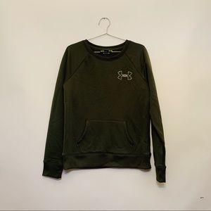 Under Armor Olive Green Sweatshirt
